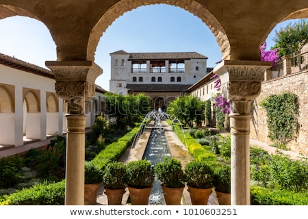 View of courtyard in Alhambra in Granada  in Spain Stock photo © backyardproductions