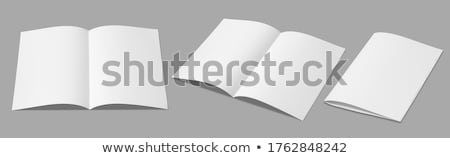 Dos vacío papel blanco fondo tarjeta Foto stock © romvo