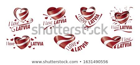 любви Латвия знак изолированный белый сердце Сток-фото © MikhailMishchenko