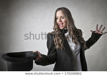 Mulher mágico belo mulher jovem topo seis Foto stock © piedmontphoto