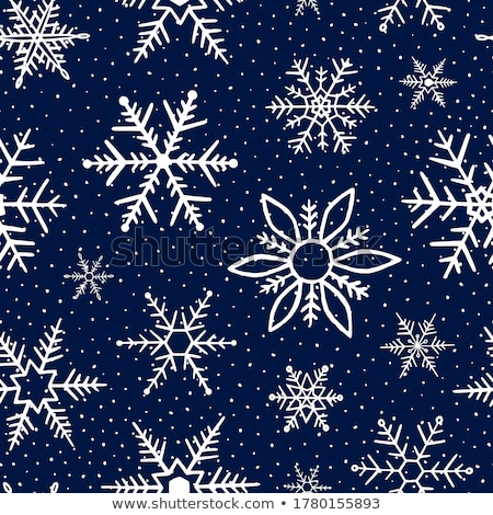 Vector Seamless Pattern with Blue Snowflakes Stock photo © alexmakarova