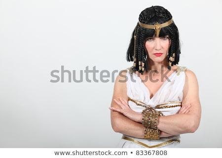 сердиться древних египетский женщину красивая женщина королева Сток-фото © Aikon