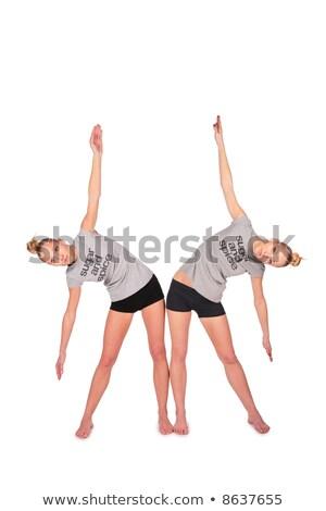 tweeling · sport · meisjes · kant · vrouw - stockfoto © Paha_L