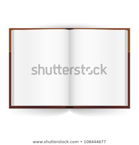 abrir · vermelho · livro · branco · papel · estudante - foto stock © paha_l