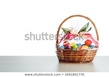 синий пластиковых корзины белый рынке прачечной Сток-фото © shutswis