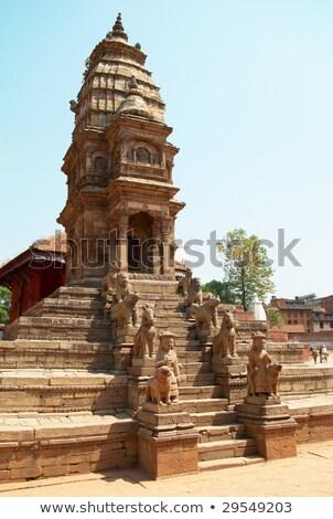 Telhado cidade Nepal velho casa edifício Foto stock © vapi