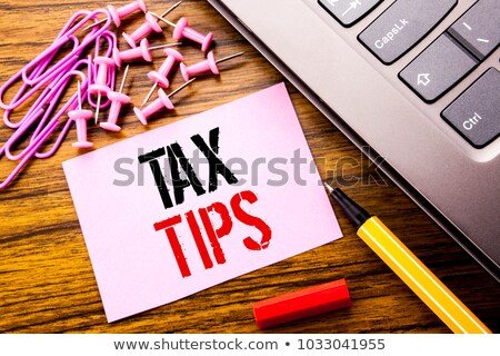 Tax Help Sticky Note Stock photo © ivelin