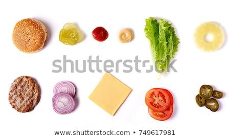 完全菜食主義者の · サンドイッチ · 肉 · 鶏 · トルコ · 豆腐 - ストックフォト © joannawnuk