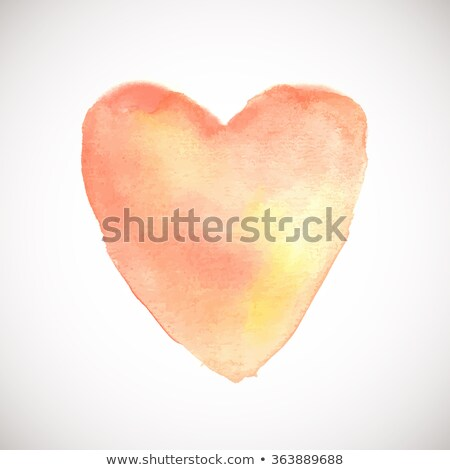 Watercolor painted soft pink heart, vector illustration for holiday card, web, print, valentine and  Stock photo © mcherevan