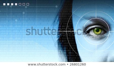 soyut · yüksek · teknoloji · radyo · savaş · mavi - stok fotoğraf © scornejor