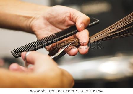 Vrouw kapper illustratie glimlach haren baan Stockfoto © adrenalina