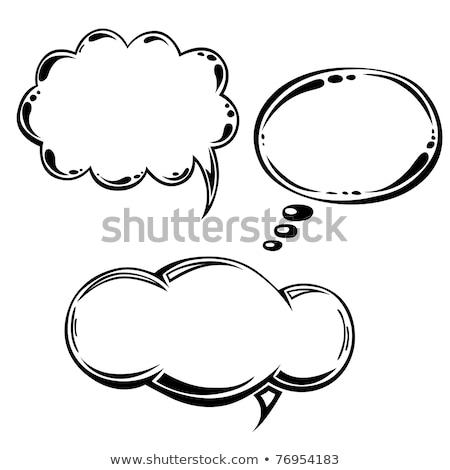 Foto stock: Discurso · pensamento · bubbles · eps · vetor · arquivo