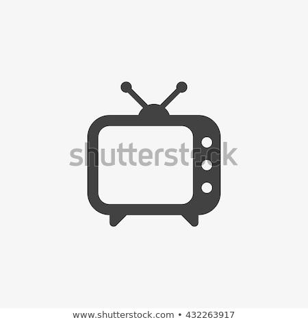 Tv ikon terv illusztráció számítógép film Stock fotó © kiddaikiddee