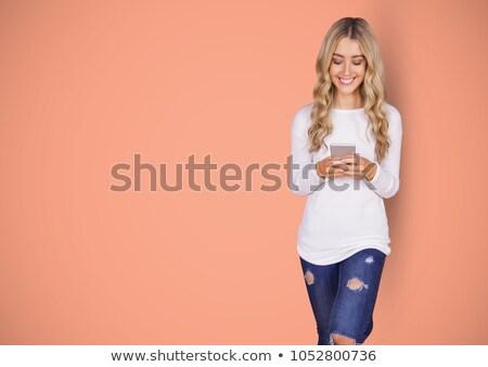 Afbeelding prachtig glimlachend blond Stockfoto © wavebreak_media