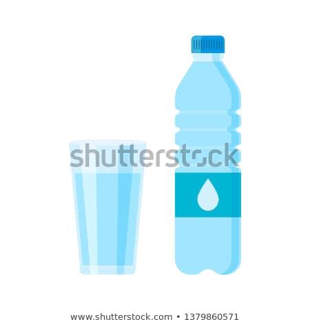 Glass of water, flat design stock photo © jabkitticha