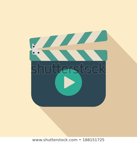 movie clapper board icon with shadow illustraion stock photo © jabkitticha