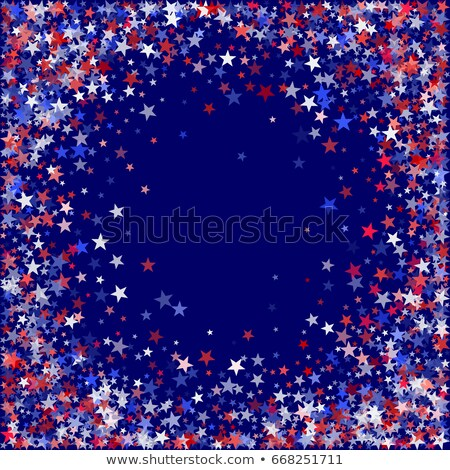 4th of July with star in square frame - USA American Independenc Stock photo © marinini