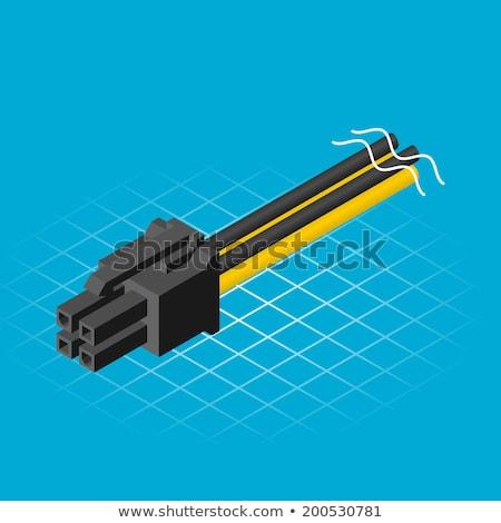 Isométrica quatro pin poder projeto tecnologia Foto stock © ridjam