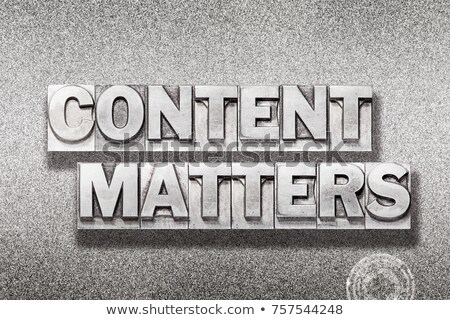 Content Matters-stamp Stock photo © carmen2011