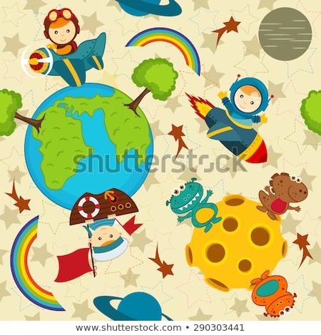 Astronaut baby Earth space Stock photo © studiostoks