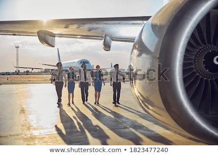 A plane flying with a smiling pilot Stock photo © bluering