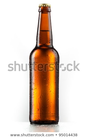 Isolated brown beer bottle with cap Stock photo © njnightsky