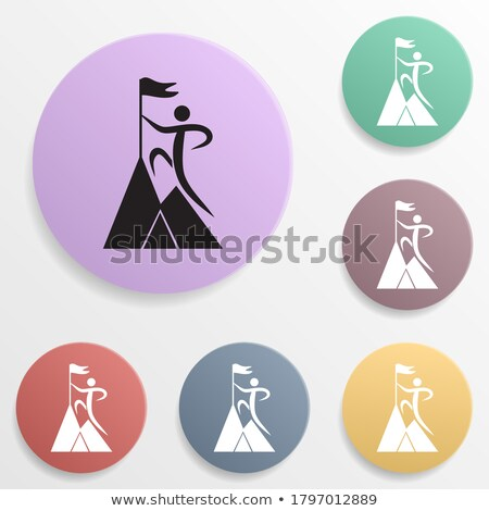 Taekwondo icon on round badge Stock photo © bluering