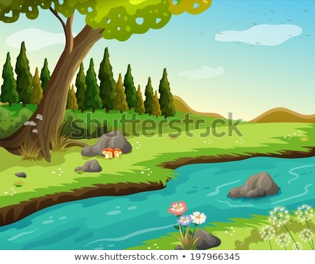 A waterform at the forest Stock photo © bluering