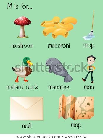 Farklı sözler mektup m örnek arka plan sanat Stok fotoğraf © bluering