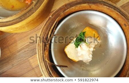 Krab vlees voorgerechten geserveerd komkommer Stockfoto © Klinker