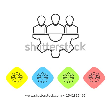 Project Management Icon. Grey Button Design. Stock photo © WaD