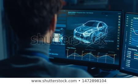 инженерных автомобилей передовой Колеса дороги Сток-фото © ssuaphoto
