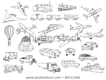 Cargo wagon sketch icon. Stock photo © RAStudio