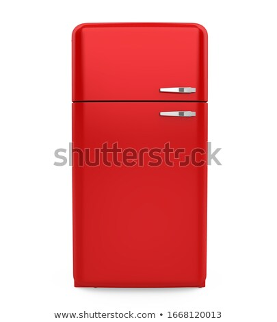 Red retro design household refrigerator Stock photo © adrian_n