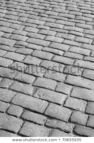 old english cobblestone road close up detail stock photo © latent