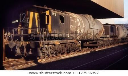Pollepel staal vervoer hot metaal veld Stockfoto © mady70