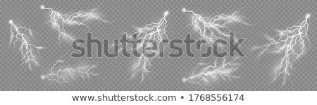 Stock photo: Set of the isolated realistic lightnings. EPS 10