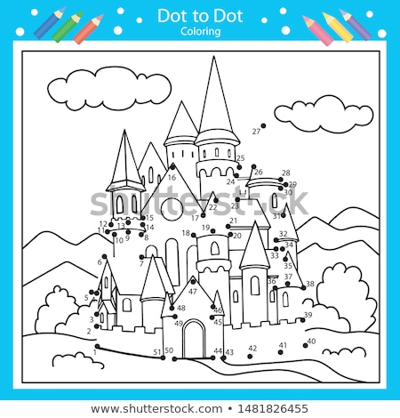 Stock photo: Connect the dots and coloring page
