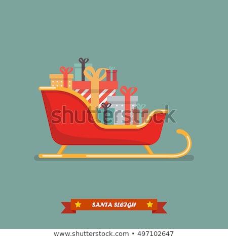 Stok fotoğraf: Sleigh Of Santa Claus Sign