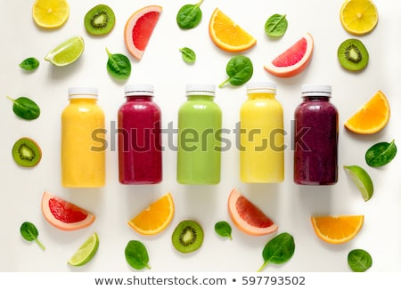 Bottled smoothies with straws Stock photo © unikpix