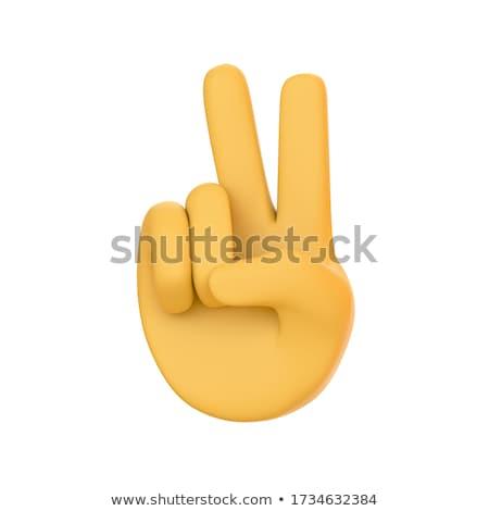 Emoticon vrouw man 3d render geïsoleerd witte Stockfoto © mariephoto