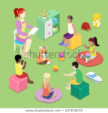 Children playing pyramid in classroom Stock photo © bluering
