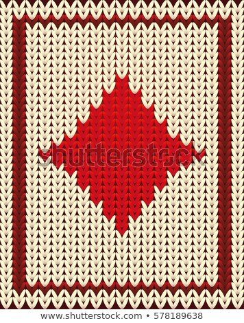 Knitted poker card diamonds , vector illustration Stock photo © carodi