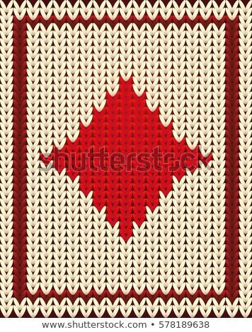 Kötött póker kártya gyémántok háttér öltöny Stock fotó © carodi