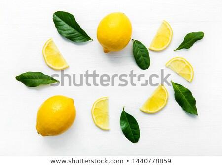 свежие лимоны таблице природного избирательный подход фон Сток-фото © Yatsenko