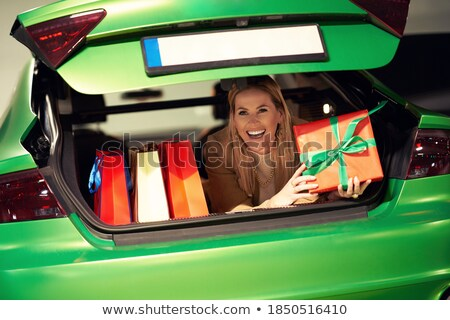 woman lies in a garage Stock photo © ssuaphoto