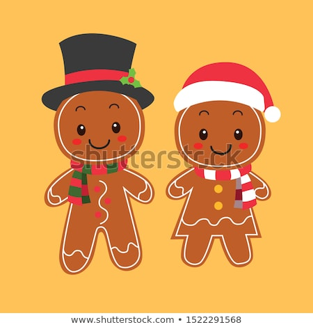Foto d'archivio: Two Gingerbread Biscuits