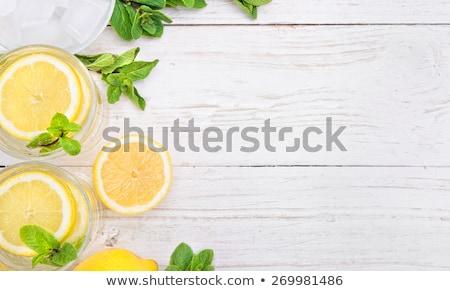 pochlebca · koktajl · szkła · świeże · owoce · drewna - zdjęcia stock © yelenayemchuk