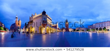 Panoramic view of Krakow Old Town Main Square, Poland Stock photo © Xantana
