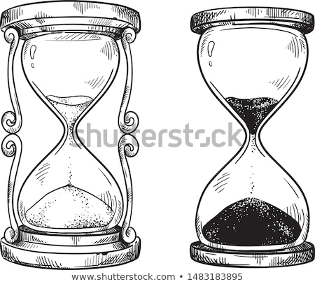 Vectorized Ink Sketch of an Hourglass Stock photo © cidepix